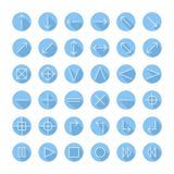 Os ícones finos do vetor ajustaram-se para a Web e o móbil linha ilustração do vetor