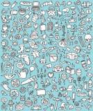 Ícones grandes do Doodle ajustados Fotografia de Stock Royalty Free