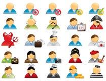 Os ícones humanos ajustaram 1 Imagens de Stock Royalty Free