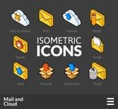Os ícones isométricos do esboço ajustaram 29 Imagem de Stock Royalty Free