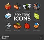 Os ícones isométricos do esboço ajustaram 28 Imagem de Stock