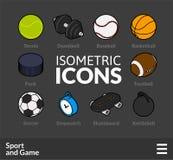 Os ícones isométricos do esboço ajustaram 46 Imagens de Stock