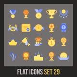 Os ícones lisos ajustaram 29 Foto de Stock