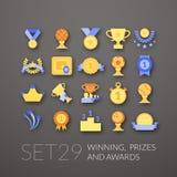 Os ícones lisos ajustaram 29 Fotografia de Stock Royalty Free