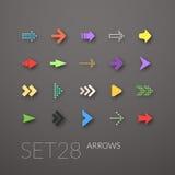 Os ícones lisos ajustaram 28 Fotografia de Stock