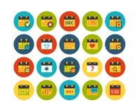 Os ícones lisos ajustaram 16 Imagens de Stock Royalty Free