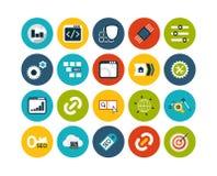 Os ícones lisos ajustaram 22 Imagem de Stock Royalty Free