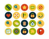 Os ícones lisos ajustaram 1 Imagens de Stock Royalty Free