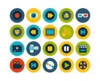 Os ícones lisos ajustaram 5 Fotos de Stock