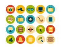 Os ícones lisos ajustaram 14 Imagem de Stock Royalty Free