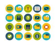 Os ícones lisos ajustaram 10 Imagem de Stock