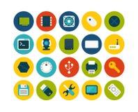 Os ícones lisos ajustaram 13 Imagens de Stock