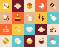 Os ícones lisos ajustaram 27 Imagens de Stock