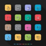 Os ícones lisos do estilo da gestão empresarial ajustam-se - Vector a ilustração para a Web & o móbil ilustração stock