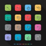 Os ícones lisos do estilo da notificação ajustam-se - Vector a ilustração para a Web & o móbil ilustração royalty free