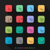 Os ícones lisos do estilo das setas ajustam-se - Vector a ilustração para a Web & o móbil ilustração royalty free