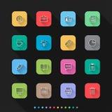Os ícones lisos do estilo do escritório ajustam-se - Vector a ilustração para a Web & o móbil ilustração royalty free