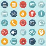 Os ícones lisos do projeto - Web, móbil, App - vector EPS10 Fotos de Stock