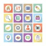 Os ícones lisos modernos do design web ajustaram 1 Fotografia de Stock Royalty Free