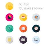 Os ícones lisos modernos vector a coleção com efeito de sombra longo em s Foto de Stock Royalty Free