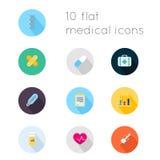 Os ícones lisos modernos vector a coleção com efeito de sombra longo em s Fotografia de Stock Royalty Free