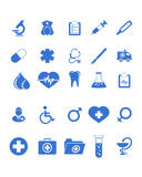 Os ícones médicos ajustaram-se Fotografia de Stock Royalty Free