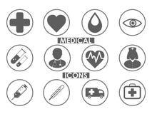 Os ícones médicos ajustaram-se Foto de Stock Royalty Free