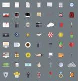 Os ícones modernos lisos do vetor ajustaram-se, Eps 10 Fotografia de Stock Royalty Free