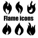 Os ícones originais de alta qualidade da chama ajustaram-se para o design web ou o todo o othe ilustração do vetor