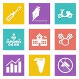 Os ícones para o design web ajustaram 12 Foto de Stock Royalty Free