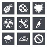 Os ícones para o design web ajustaram 37 Imagem de Stock Royalty Free