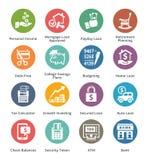 Os ícones pessoais & do negócio da finança ajustaram 2 - Dot Series Imagens de Stock