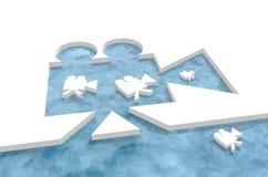 Os ícones retros da câmera que flutuam no projetor retro dão forma ao porto do entalhe ilustração royalty free