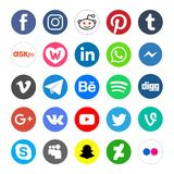 Os ícones sociais da rede e abotoam-se isolado - png ilustração royalty free
