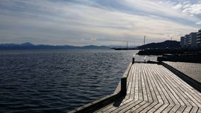 OS σε Hordaland Bjørnefjord στοκ εικόνα