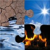 Os 4 elementos imagens de stock