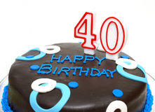Os 40 grandes Imagem de Stock
