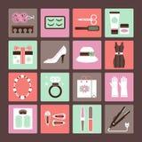 Os acessórios das mulheres ilustração royalty free