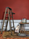 Os acessórios do pintor Imagem de Stock Royalty Free