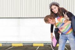 Os adolescentes retornam a escola Imagens de Stock Royalty Free