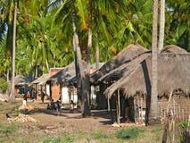 Os aldeões vão aproximadamente seu negócio. Imagem de Stock Royalty Free