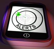 Os alertas Smartphone indicam o lembrete ou o alarme do telefone ilustração stock