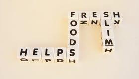 Os alimentos frescos ajudam magro fotos de stock