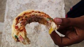 Os alimentos indianos da rua são sabidos no mundo inteiro para seu gosto imagem de stock