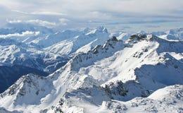 Os alpes franceses Imagens de Stock