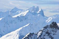 Os alpes franceses Imagem de Stock