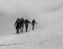 Os alpinistas Fotografia de Stock