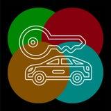 Os alugueres de carros do vetor etiquetam, logotipo, ?cone, emblema ilustração stock
