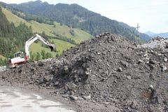 Os aluviões scar os montanheses de Áustria que seguem a chuva pesada Imagem de Stock Royalty Free