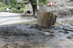 Os aluviões scar os montanheses de Áustria que seguem a chuva pesada UE Imagens de Stock Royalty Free